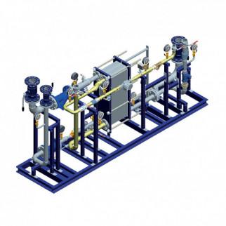 Блочный тепловой пункт Ridan WL - Блок ГВС 2-ступенчатая смешанная схема ГВС на базе теплообменника-моноблока Ридан